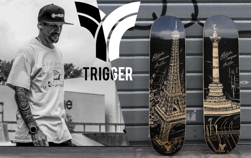 31/01/2021 Nouveaux decks Trigger Skateboard Christophe Sampaïo